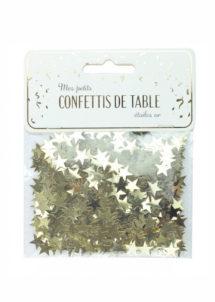 confettis de table, décorations de tables, décorations étoiles, Confettis de Table, Etoiles Dorées