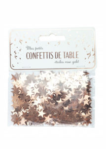 confettis de table, décorations de tables, décorations étoiles, Confettis de Table, Etoiles Rose Gold