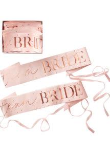 écharpe de miss célibataire, enterrement de vie de jeune fille, evjf, écharpe de miss, écharpe bride to be, ginger ray, Echarpe de Miss Team Bride, Coffret de 6