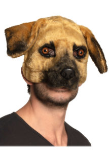 masque de chien, masques animaux, masque chien fourrure, Masque de Chien Fourrure, Demi Visage