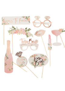 kit Photo Booth, accessoires evjf, Photo Booth pour mariages, accessoires photo booths, Kit Photo Booth, EVJF Team Bride, Floral