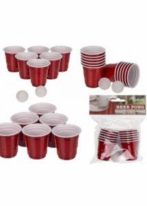 jeu de beer pong, jeux boissons, jeux à boire, jeux de beerpong, Kit Beer Pong, Shooters 60 ml + Balles