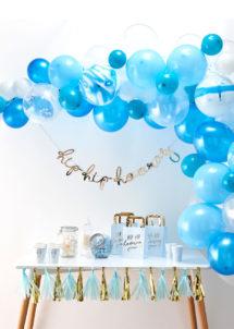 kit arche de ballons, arches pour ballons, arches de ballons, ballons décorations, ginger ray, Arche Guirlande de Ballons Bleus et Blancs