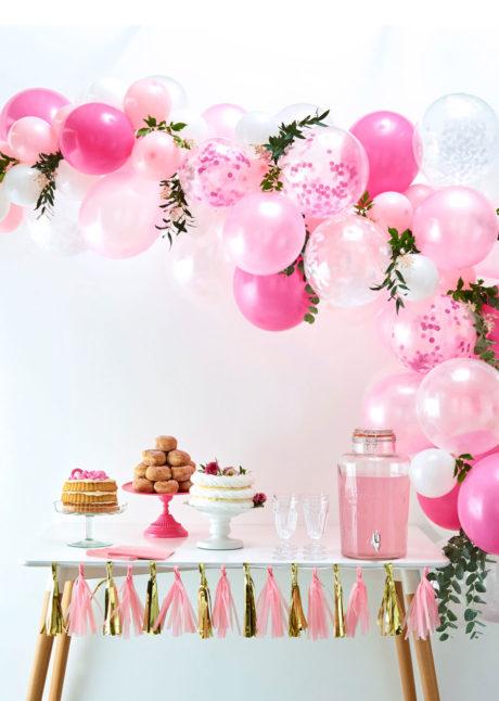 kit arche de ballons, arches pour ballons, arches de ballons, ballons décorations, ginger ray, Arche de Ballons Roses et Blancs, Kit Complet