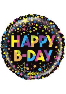 ballon hélium, ballon anniversaire, ballon aluminium, ballons hélium, Ballon Anniversaire, Mighty Colorful, en Aluminium