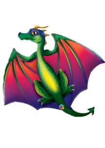 ballon dragon, ballons animaux, ballon hélium, Ballon Dragon Flamboyant, en Aluminium