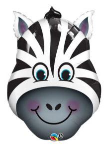 ballon zebre, ballons animaux, ballons hélium, Ballon Zany le Zèbre, en Aluminium