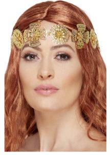 bandeau médiéval, couronne médiévale, accessoire médiéval, Bandeau Médiéval Métal Doré