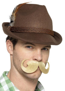 chapeau bavarois, chapeau tyrolien, chapeau oktoberfest, Chapeau de Bavarois, Tyrolien, Marron
