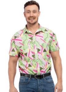 chemise années 80, chemise années 90, Chemise Graphique Années 80