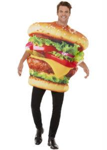 déguisement homme, déguisement burger adulte, déguisement humour, déguisement frites, déguisement hamburger, Déguisement Burger Maxi Best Of