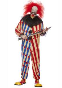 déguisement clown halloween, clown effrayant, Déguisement Clown Creepy avec Masque