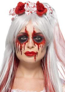 kit maquillage halloween, maquillage faux sang, maquillage mariée de la mort, Kit de Maquillage Mariée de la Mort