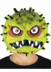 masque virus, masque coronavirus, masque covid19, Didier raoult, virus halloween, Masque Covid 19, Coronavirus Vert