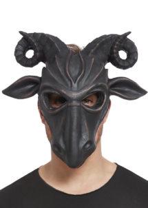 masques animaux, masque halloween, masque bouc, Masque de Bouc Satanique, Demi Visage