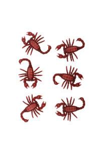 faux scorpions halloween, faux insectes, scorpion plastique, Faux Scorpions x 6
