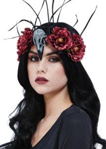 serre tete halloween, serre tête oiseau, serre tete fleurs, Bandeau Fleurs, Oiseau et Plumes