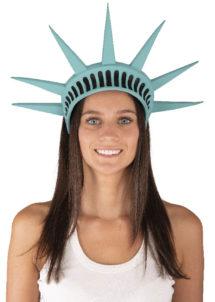 coiffe statue de la liberté, chapeau statue de la liberté, couronne statue de la liberté, Coiffe Statue de la Liberté, en Latex