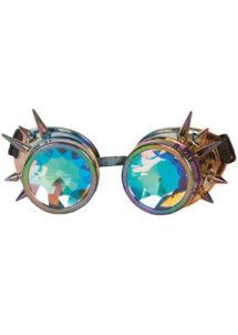 lunettes steampunk, accessoire steampunk, lunettes halloween, lunettes steampunk halloween, lunettes aviateur ancien, lunettes burning man, Lunettes Steampunk, Kaléidoscopes et Monture Bronze