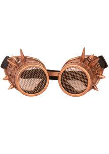 lunettes steampunk, accessoire steampunk, lunettes halloween, lunettes steampunk halloween, Lunettes Steampunk, Acier Vieilli, Verres Grille