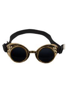 lunettes steampunk, accessoire steampunk, Lunettes Steampunk, Acier Vieilli Doré