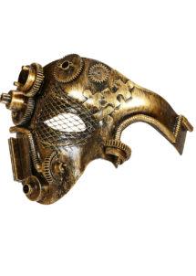 masque steampunk, accessoire steampunk, steampunk halloween, masque steampunk, loup steampunk, Masque Steampunk, Acier Gold Rouages