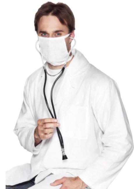 accessoire stéthoscope déguisement, accessoire infirmière déguisement, accessoire déguisement infirmière, faux stéthoscope déguisement, accessoire déguisement chirurgien, stéthoscope infirmière, Stéthoscope, Noir