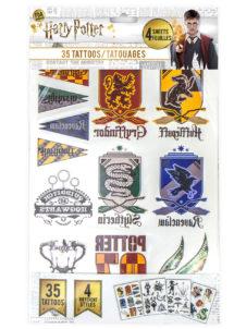 tatouages enfants, tatouages Harry Potter, faux tatouages, tatouages éphémères enfants, Tatouages Harry Potter, x 35