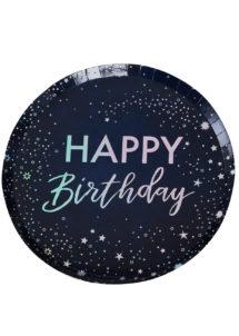 assiettes anniversaire, assiettes happy birthday, ginger ray, Vaisselle Anniversaire, Assiettes Happy Birthday