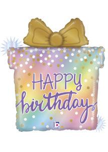 ballon anniversaire, ballon géant anniversaire, ballon cadeau anniversaire, Ballon Anniversaire, Cadeau Pastel, en Aluminium