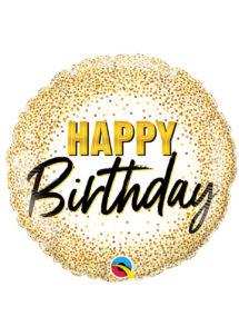 ballon hélium, ballons anniversaires, ballons doré anniversaire, Ballon Anniversaire, Doré Glitter, en Aluminium