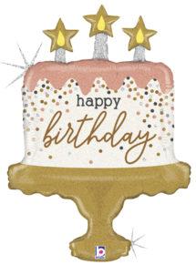 ballon hélium, ballon anniversaire gâteau anniversaire, ballon anniversaire géant, Ballon Anniversaire, Gâteau Bougies, en Aluminium
