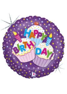 ballon hélium, ballons anniversaire, ballons à l'hélium, Ballon Anniversaire, Cupcakes, en Aluminium