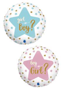 ballon baby shower, ballon revelation, ballon naissance fille, ballon naissance garçon, ballon gender reveal, Ballon Baby Shower, Boy or Girl ?, en Aluminium