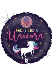 ballon hélium, ballon licorne fête, ballon party licorne, ballons anniversaire, Ballon Licorne, Party Like a Unicorn, en Aluminium