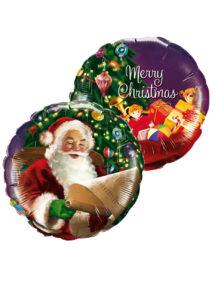 ballon hélium noel, ballon père noel, ballon à l'hélium, ballon de père noël, Ballon Noël, Liste du Père Noël, Duo, en Aluminium