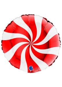 ballon hélium, ballon noel, ballon rouge, ballon aluminium, Ballon Spirale Rouge, en Aluminium