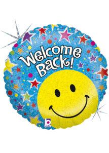 ballon message, ballon bienvenue, ballon hélium, Ballon Welcome Back, en Aluminium