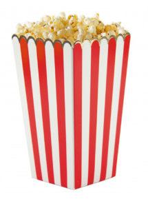 gobelets à popcorn, boite à popcorn, Gobelets à Pop Corn, Rouges et Blancs, x 8