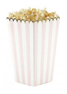 gobelets à popcorn, boite à popcorn, Gobelets à Pop Corn, Roses et Blancs, x 8