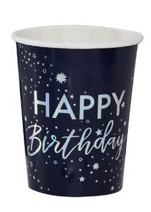 gobelets anniversaire, vaisselle jetable anniversaire, vaisselle Ginger ray, décorations Ginger ray, Vaisselle Anniversaire, Gobelets Happy Birthday