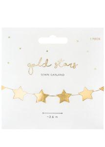 guirlande étoiles dorées, guirlande d'étoiles, guirlandes décorations, Guirlande Etoiles Dorées Miroir