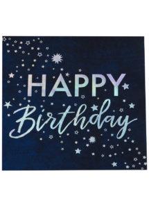 serviettes anniversaire Ginger ray, décorations Ginger ray, vaisselle jetable, Vaisselle Anniversaire, Serviettes Happy Birthday