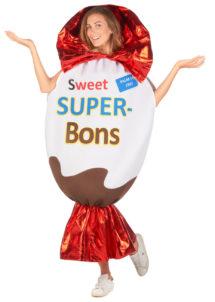 déguisement bonbon Kinder surprise, déguisement confiserie, déguisement aliment, Déguisement Bonbon Kinder Surprise