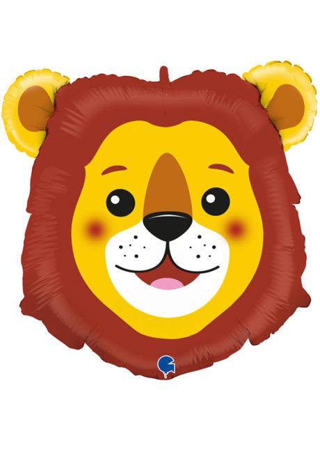 ballon aluminium, ballons décorations, ballons hélium, ballon géant, ballon mylar, ballons animaux, ballon lion, Ballon Léo le Lion, en Aluminium