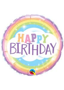 ballon anniversaire, ballon hélium, Ballon Anniversaire, Opale Nuages, en Aluminium
