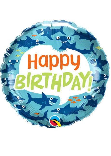 ballon hélium, ballon anniversaire, ballon requin, Ballon Anniversaire, Drôles de Requins, en Aluminium