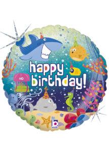ballon anniversaire, ballon hélium, ballon enfant, Ballon Anniversaire, Océan Enchanté, en Aluminium