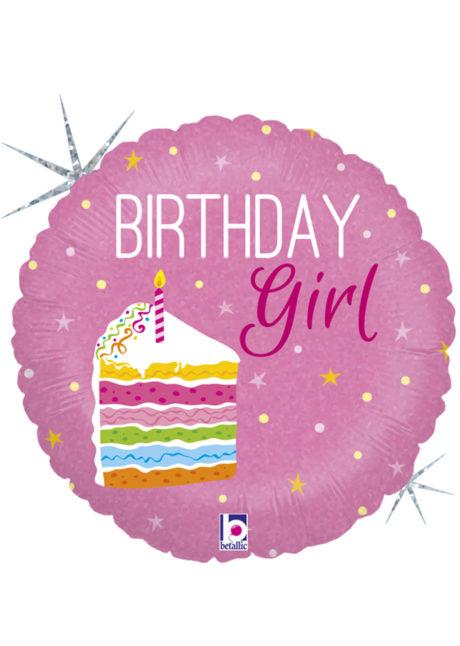 ballon anniversaire, ballon hélium, ballon pour anniversaire, ballon fille, Ballon Anniversaire, Birthday Girl, en Aluminium