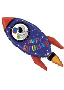 ballon anniversaire, ballon fusée, ballon hélium, ballon enfant, Ballon Anniversaire, Fusée Spatiale, en Aluminium